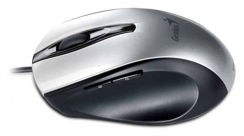 Мышь Genius Ergo 325L серебристый - фото 2