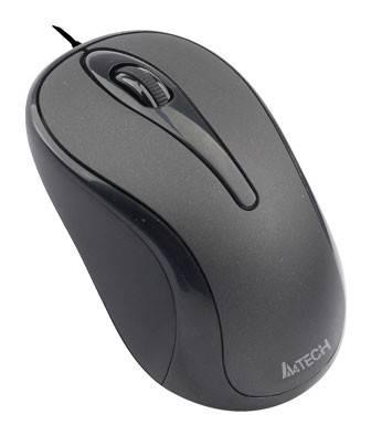 Мышь A4 Q3-350-1 черный - фото 1