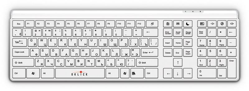 Клавиатура Oklick 560S белый - фото 1