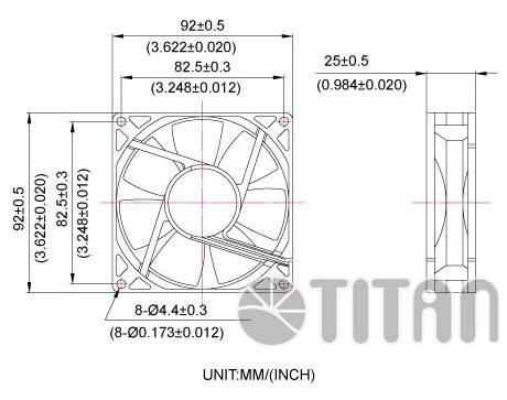 Вентилятор Titan TFD-9225L12Z Ret - фото 2