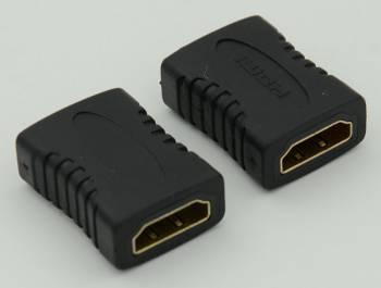 Адаптер HDMI 19P Female-Female 180