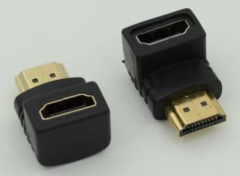 Адаптер 90 Deg HDMI (m)/HDMI (f)