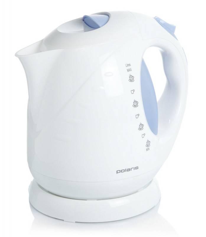 Чайник электрический Polaris PWK2013C белый/синий - фото 1