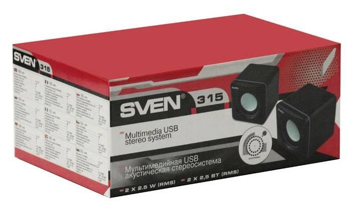 Колонки Sven 315 черный 2.0 - фото 4