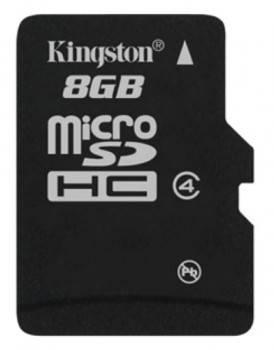 Карта памяти microSDHC 8Gb Class4 Kingston SDC4 / 8GBSP