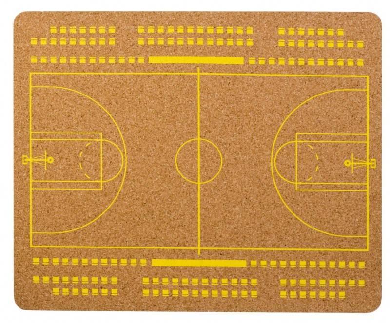 Коврик для мыши PC Pet MP-CKB CorkArt (BasketBall) коричневый/рисунок - фото 1