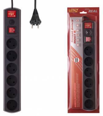 Сетевой фильтр Most R 2м черный (R 6-2-Ч)