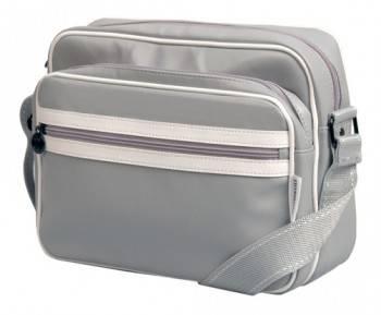 Сумка для ноутбука 11 Continent CC061 серый (лак) / белый