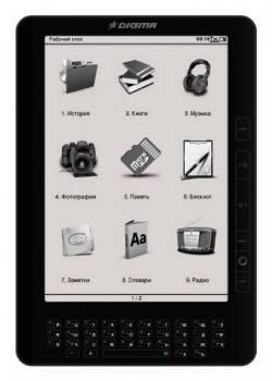 Электронная книга 9.7 Digma q1000 черный