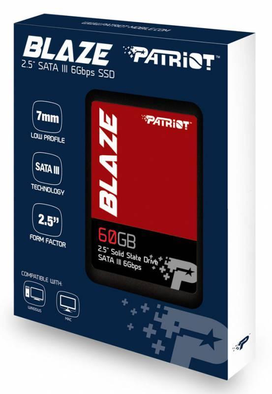 Накопитель SSD 60Gb Patriot Blaze PB60GS25SSDR SATA III - фото 3