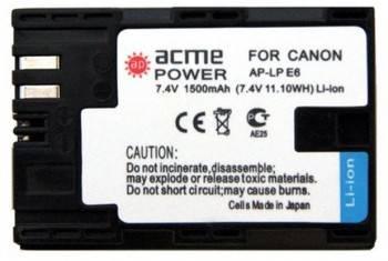 Аккумулятор для зеркальных камер AcmePower AP-LP-E6