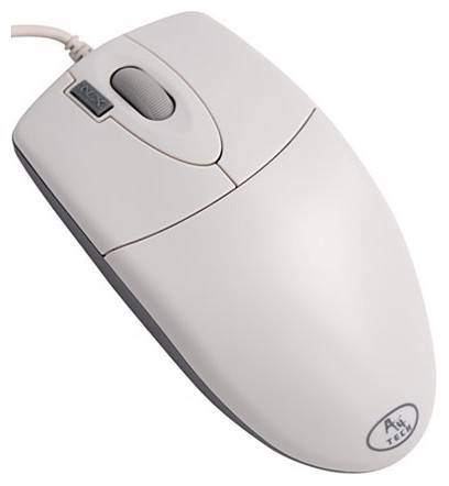 Мышь A4 OP-620D-2 белый - фото 1