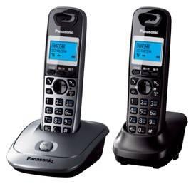 Телефон Panasonic KX-TG2512RU1 серый металлик