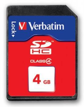 Карта памяти SDHC 4Gb Class4 Verbatim 044016-155