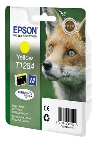 Картридж струйный Epson C13T12844010 желтый - фото 1