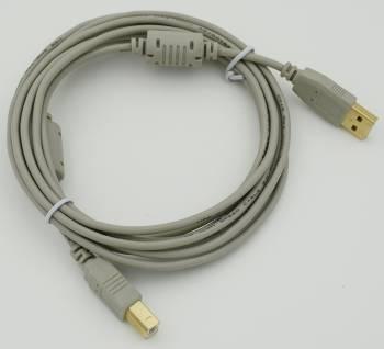 Кабель USB 2.0 PRO Am-Bm / Экран, покрытие Gold flash, 2x ферритовых фильтра 3м