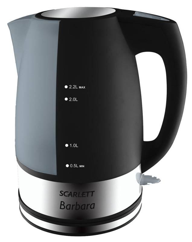 Чайник электрический Scarlett SC-1020 черный - фото 1