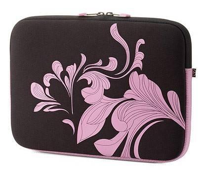 "Чехол для ноутбука 10"" HP Mini черный/розовый - фото 1"