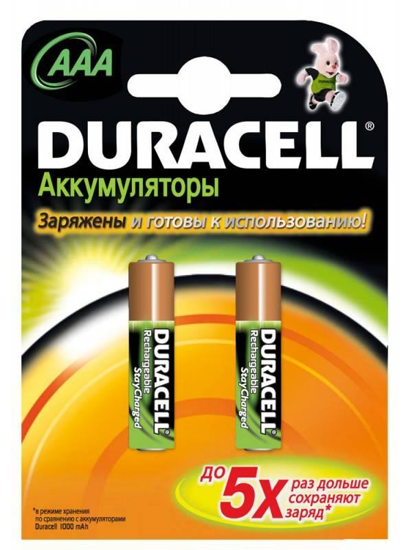 Аккумулятор AAA Duracell HR03-2BL (2шт) - фото 2