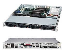 "Корпус SuperMicro CSE-813MTQ-600CB 1U 4x3.5"" HS HDD 600W"