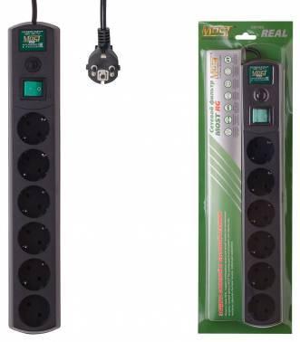 Сетевой фильтр Most RG 5м черный (RG 5М, BL)