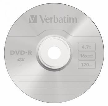 Диск DVD-R Verbatim 4.7Gb 16x (10шт) (43729)