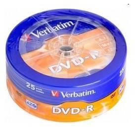 Диск DVD-R Verbatim 4.7Gb 16x (25шт) (43730)