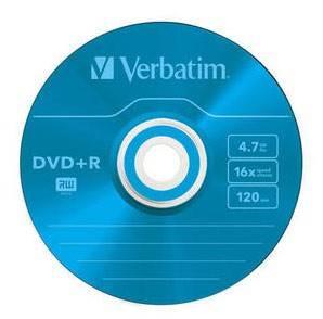 Диск DVD+R Verbatim 4.7Gb 16x (25шт) (43733)
