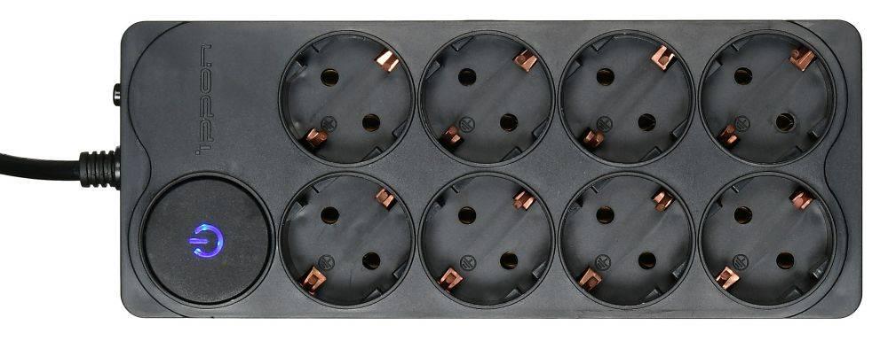 Сетевой фильтр Ippon BK-238 3м черный - фото 3