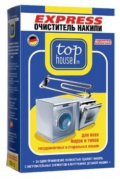 Очиститель от накипи для посудомоечных и стиральных машин Top House 804011, 1шт.