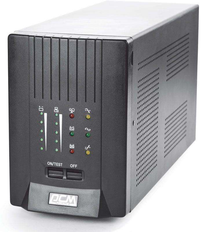 ИБП Powercom Smart King Pro SKP-1500A черный - фото 4