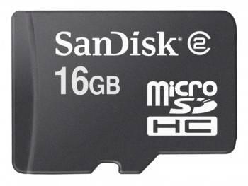 Карта памяти microSDHC 16Gb Class4 Sandisk Mobile SDSDQM-016G-B35