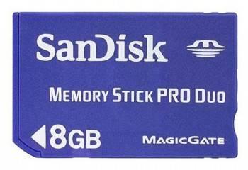Карта памяти MS Pro Duo 8Gb Sandisk SDMSPD-008G-B35