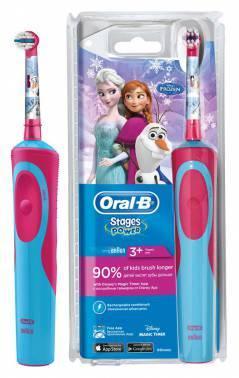 Электрическая зубная щетка Oral-B Power Frozen голубой (80279915)