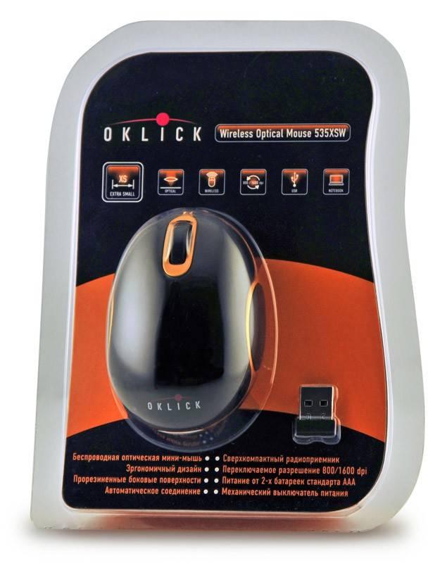 Мышь Oklick 535XSW черный/оранжевый - фото 3