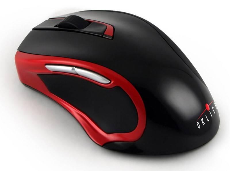 Мышь Oklick 620LW черный/красный - фото 1
