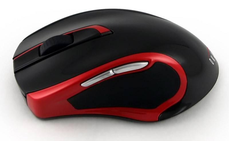 Мышь Oklick 620LW черный/красный - фото 2