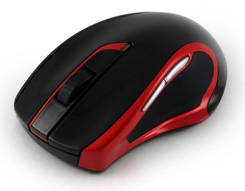 Мышь Oklick 620LW черный/красный - фото 3