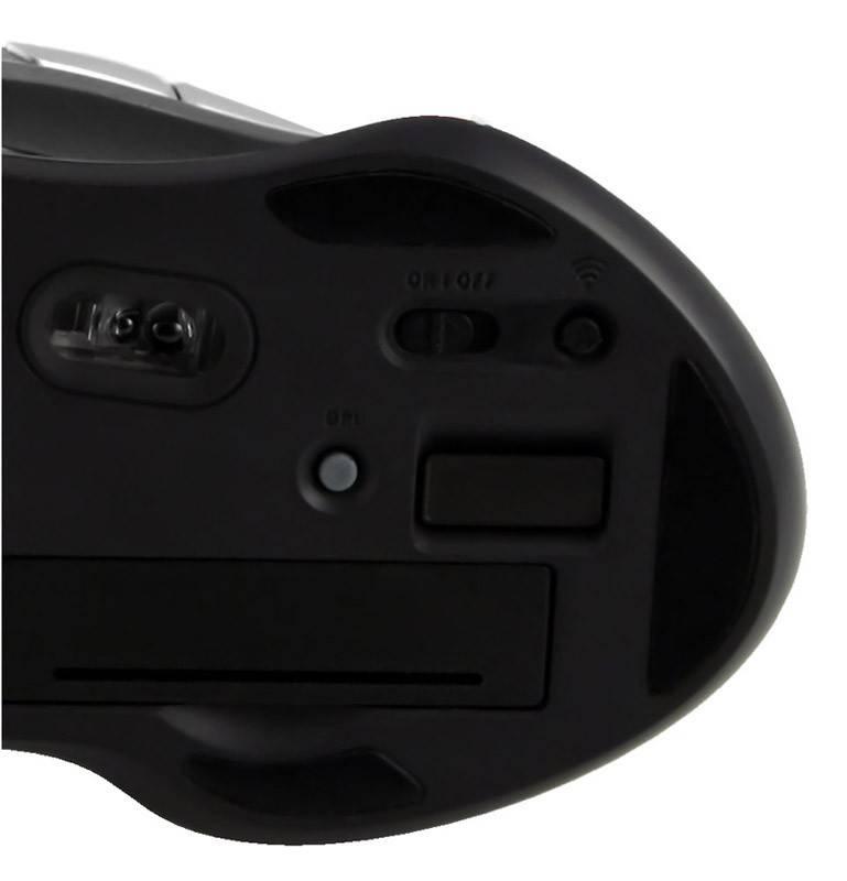 Мышь Oklick 620LW черный/серебристый - фото 5