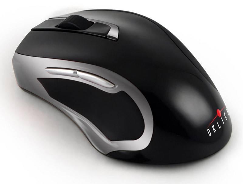 Мышь Oklick 620LW черный/серебристый - фото 1