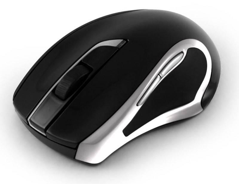 Мышь Oklick 620LW черный/серебристый - фото 3