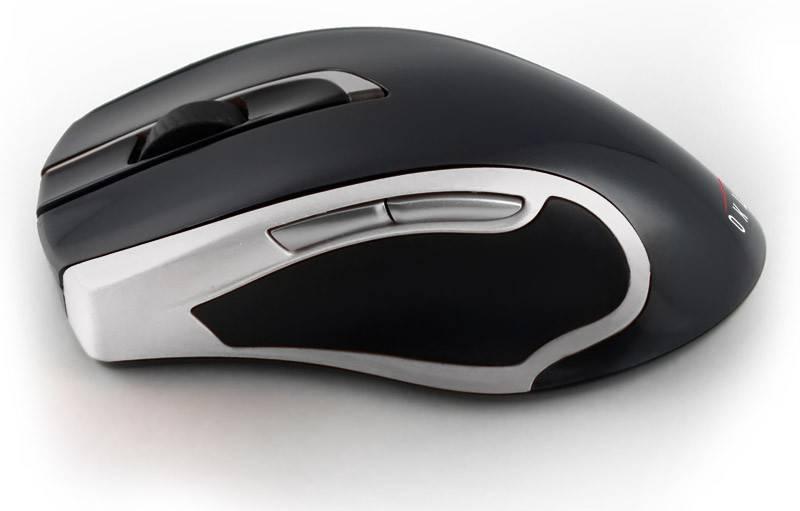 Мышь Oklick 408MW черный/серебристый - фото 2