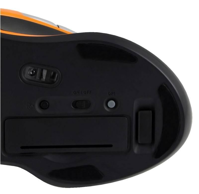 Мышь Oklick 408MW черный/оранжевый - фото 5