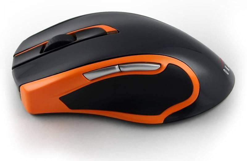 Мышь Oklick 408MW черный/оранжевый - фото 2