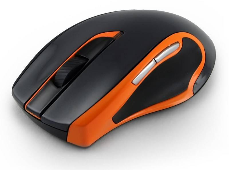 Мышь Oklick 408MW черный/оранжевый - фото 3