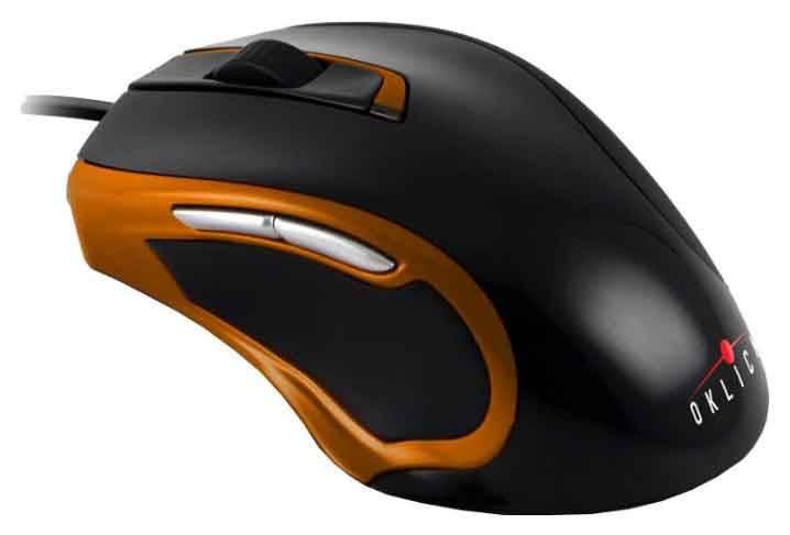 Мышь Oklick 620L черный/оранжевый (B272) - фото 2
