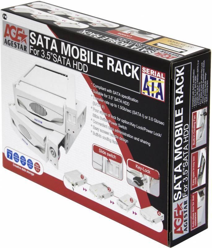 Сменный бокс для HDD AgeStar MR3-SATA(S)-1F SATA II черный - фото 8