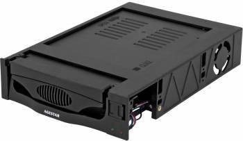 Сменный бокс для HDD AgeStar MR3-SATA(S)-1F SATA II черный (SR3P(S)-1F BLACK)