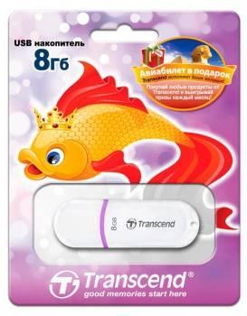 Флеш диск Transcend Jetflash JF330 8ГБ USB2.0 белый