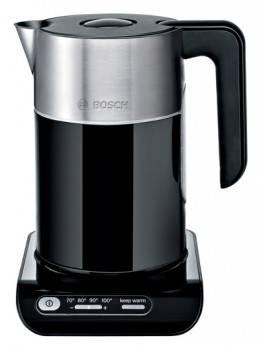 Чайник электрический Bosch TWK8613P черный/серебристый